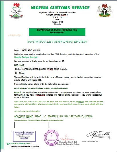 Invitation Letter Nairaland Does Anybody Also This Invitation Letter From Nigeria Custom Is It Real Or