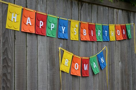 Happy October Birthday Theme Lego Happy Birthday Banner Template