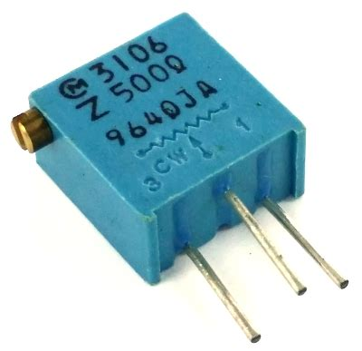 what is a resistor pot 500 ohm variable resistor trimpot pot3106z 1 501 3106z 1 501 west florida components
