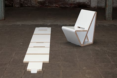 design brief chair thonet s vouwwow vw01 is a flat pack recycled honeycomb