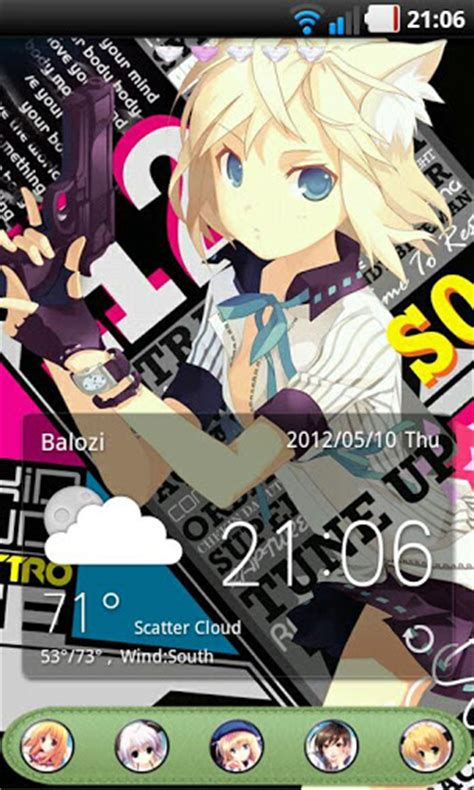 anime themes for android anime theme go launcher ex android informer best anime