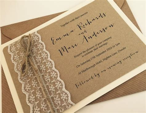 1950 Wedding Invitation Wording by 1 Vintage Rustic Shabby Chic Lace Wedding