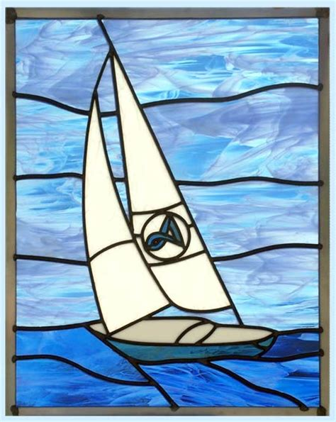 Sailboat Windows Designs Sailboat Stained Glass