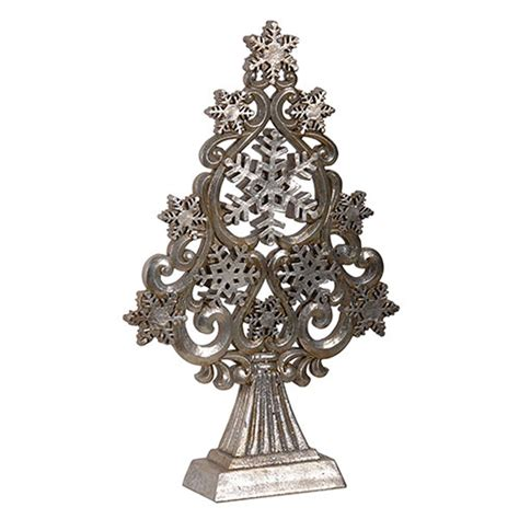 silver stars snowflakes christmas tree ornament