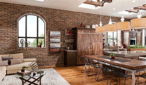 Brick Kitchen Accent Wall   Traditional   Dining Room   by