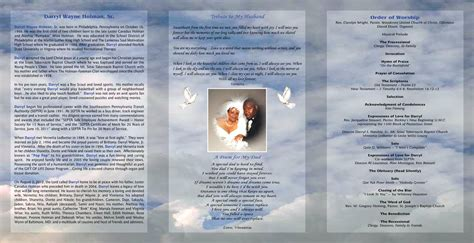 free funeral brochure templates free tri fold obituary program template free