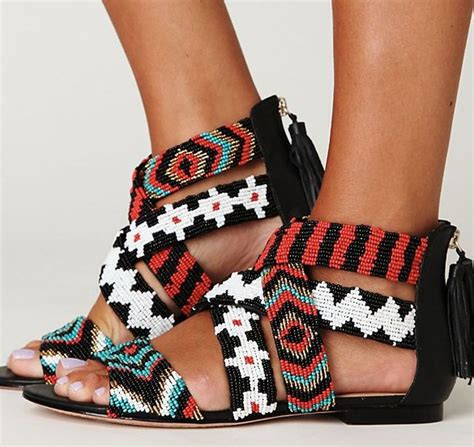 tribal patterned shoes tribal print sandals its all about shoes pinterest