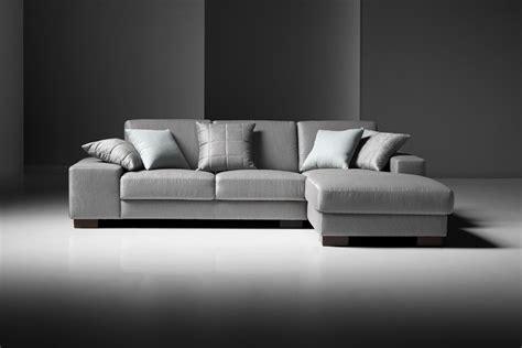 Estro Salotti Arrone Modern Grey Fabric Sectional Sofa Modern Fabric Sectional Sofa