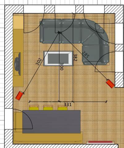 wohnzimmer planen idee aufstellung ls front center aufstellung center
