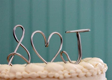 Monogram Wedding Cake Toppers by Custom Wedding Cake Topper Monogram Silver Onewed