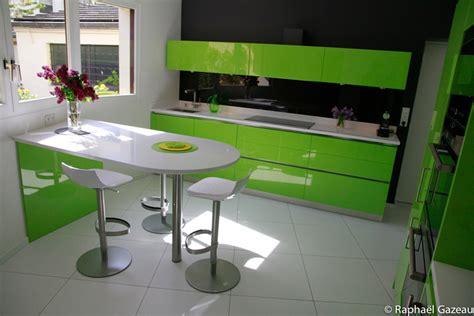 Supérieur Cuisine Blanche Et Verte #4: 2.cuisine-couleur-vert-anis-plan-snack.jpg