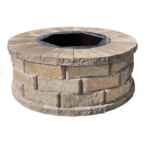 pavestone 40 in w x 16 in h rockwall pit kit