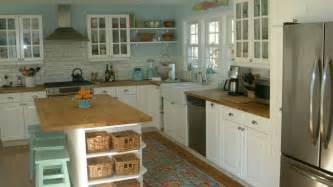 Lidingo Kitchen Cabinets Ikea Lidingo Kitchen Butcher Block Countertops Open Shelving Glass Cabinets Painted Island
