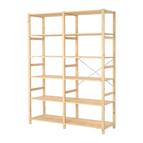 wood shelves ikea ivar 2 sections shelves ikea