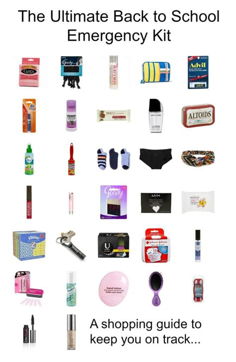 the ultimate back to school emergency kit happy pretty
