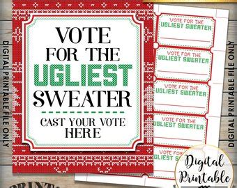 printable ugly sweater certificate no download sweater contest trophy or award
