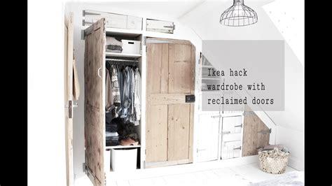 Diy Hacks Youtube by Ikea Ivar Hack Wardrobe Build With Reclaimed Doors Part 2