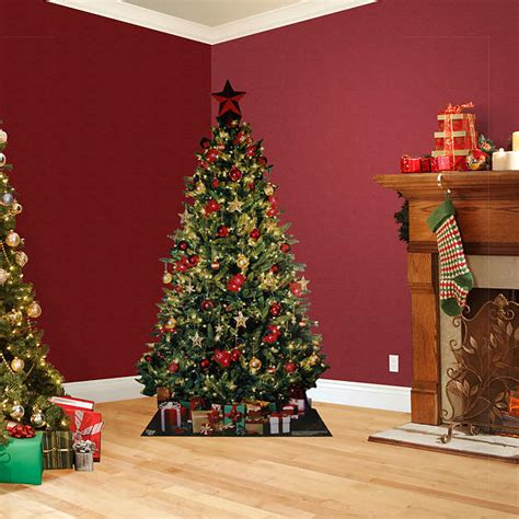 life size christmas tree stand out cut out shop fathead