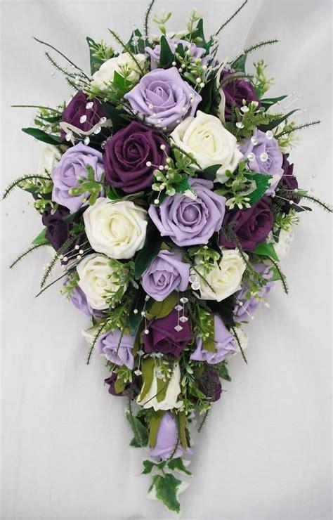 Wedding Bouquet Teardrop by Brides Small Teardrop Style Wedding Bouquet In Ivory