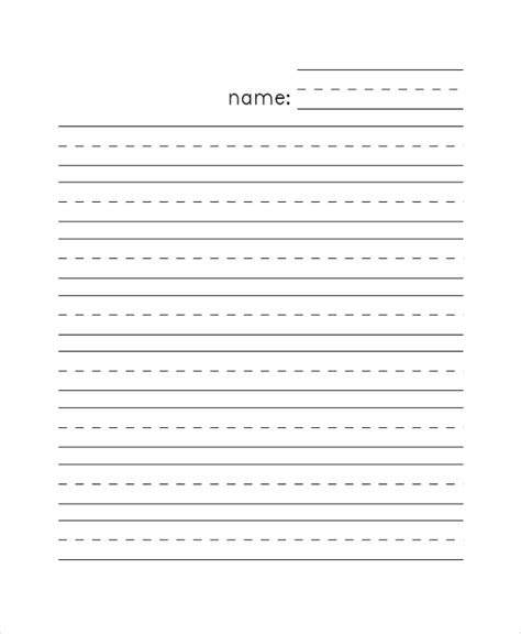printable lined blank paper printable lined paper sle 8 exles in pdf word
