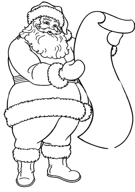 read a list of names of santa claus coloring pages
