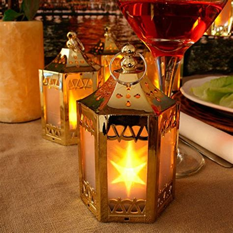 llust gold mini battery operated plastic lanterns 6