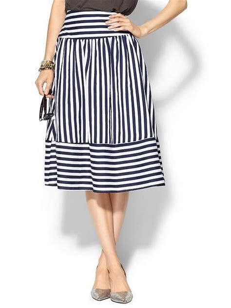 Navy Stripes Skirt navy stripes skirts and stripes on