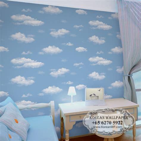 Sky Wallpaper Dinding Vinil Import 7 polaris 611 lovely blue sky wallpaper for ceiling room