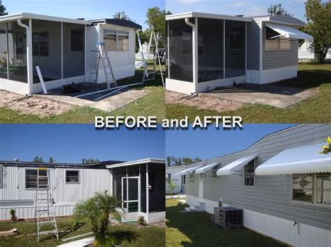 Clamshell Awning Xvon Image Prefab Mobile Home Additions