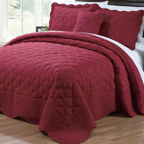 quilted cotton coverlet serenta 4 piece quilted cotton coverlet set reviews