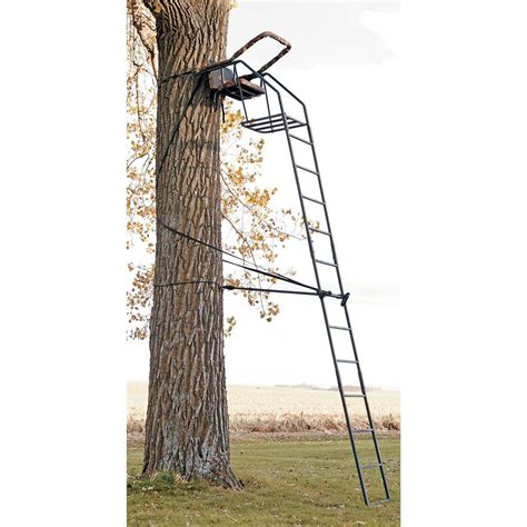 big treestands big treestands 174 riflemaster 174 ladder stand matrix 174 camo 108459 ladder tree