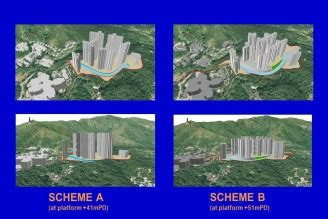 comparing 2 schemes of site formation design by