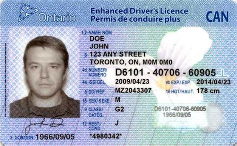 canadian id card template trillium number on driver s license ontario