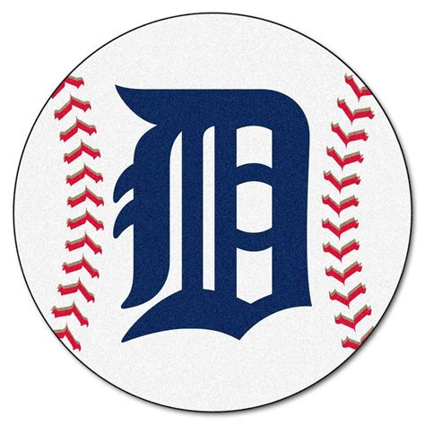 Kaos Baseball Detroit Tiger Logo 3 fanmats mlb detroit tigers white 2 ft 3 in x 2 ft 3 in