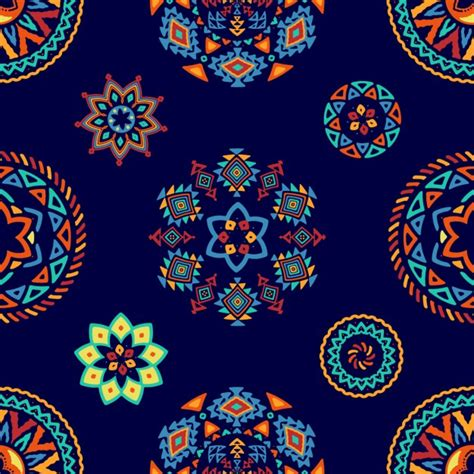 ethnic pattern vector free download ethnic decorative pattern of abstract forms vector free