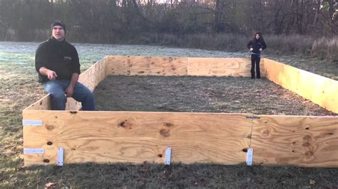 backyard rink using plywood boards