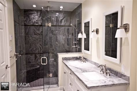 Parada Kitchens by Traditional Bathroom Renovation Project In Toronto With