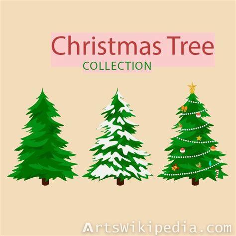 three christmas trees vector