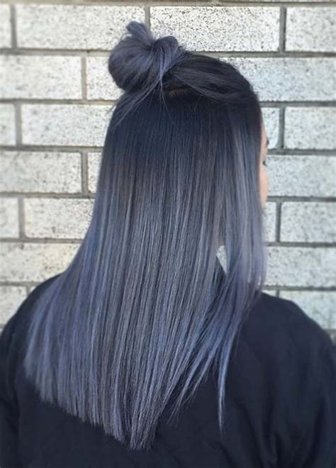 black hair with gray blue hair colors ideas 85 silver hair color ideas and tips for dyeing