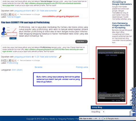 blogger buku cara memasang buku tamu di blog blogger blogspot blogger