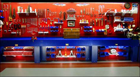 cool work bench garage tool storage ideas