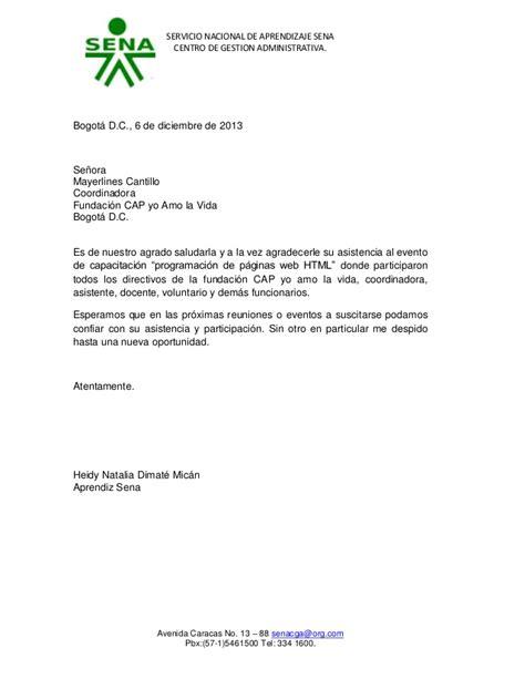 Carta De Agradecimiento Por Gestion Realizada Carta Agradecimiento