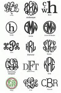 types of monograms monogram it pinterest