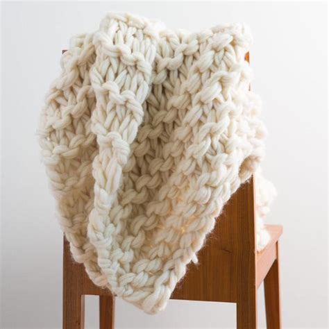 how do you make one in knitting arm knit garter stitch blanket pattern flax and twine