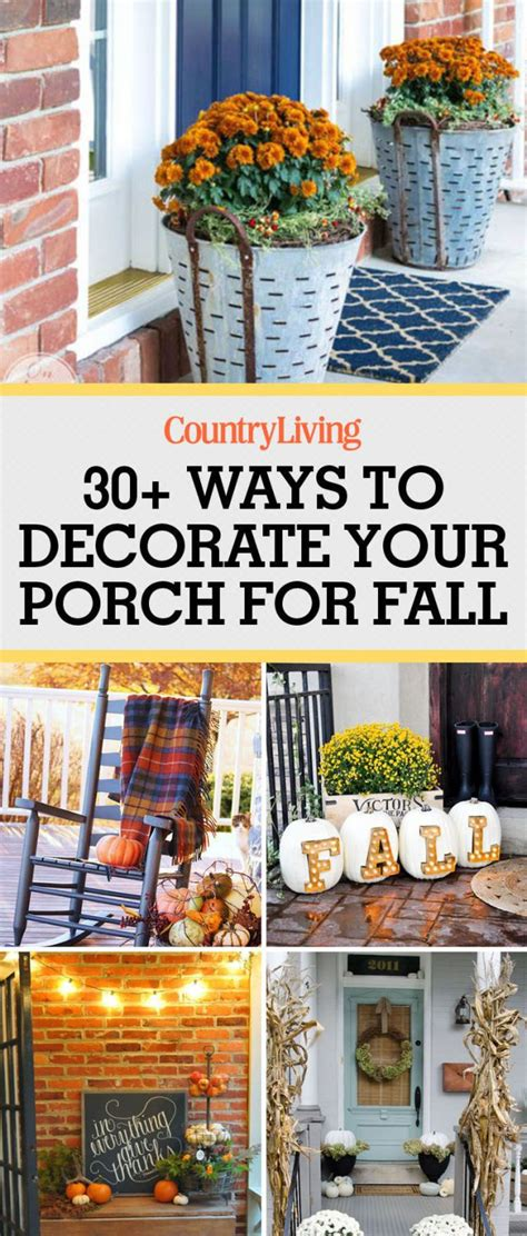 33 cozy ways to decorate your porch for fall decor fall porches and happy