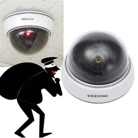 best on camera led light dummy home surveillance cctv security dome camera w