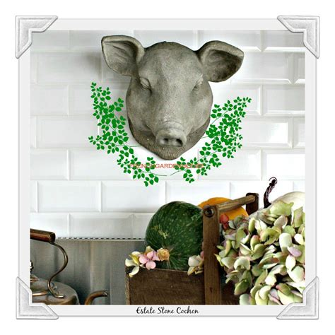 country boucherie pig wall decor
