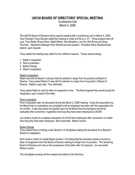 Resignation Letter Exles Board Of Directors Best Photos Of Resignation From Board Of Directors Director Resignation Letter Sle Board