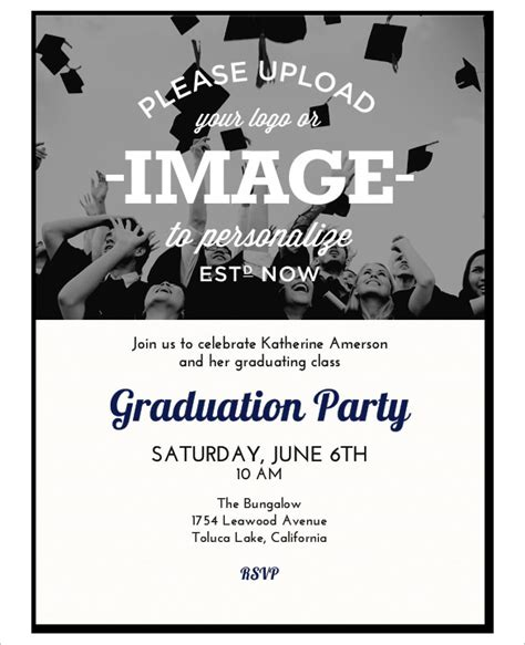 invitation card template graduation invitation template 43 free printable word pdf psd