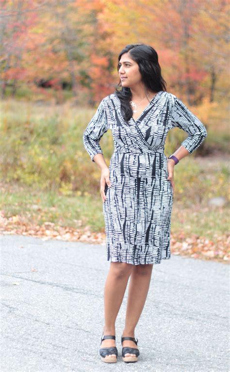 dress pattern review blog wren a faux wrap knit dress pattern from colette 10 20
